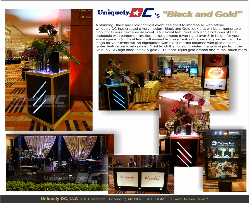 Uniquely DC's elegant Black and Gold themed gala dinner event - a stunning addition to any evening