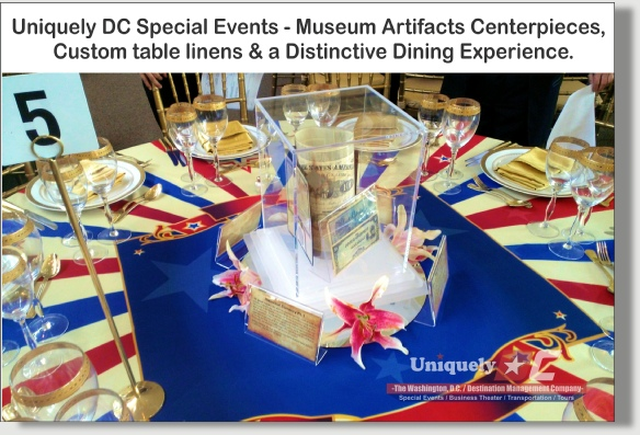 Uniquely DC Stunning Museum Centerpieces available for your special events in Washington DC, Baltimore, Maryland, and throught the DMV.