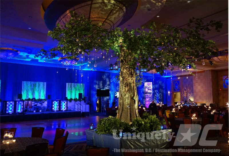 Uniquely DC Tree of Light - enchanted evening event in Washington DC.
