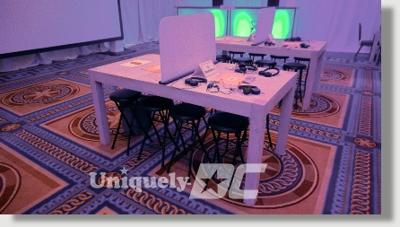 Washington DC Apple Style Furniture Rentals for Special Events and Productions - tables, stools, genius bars, display counters and much more.