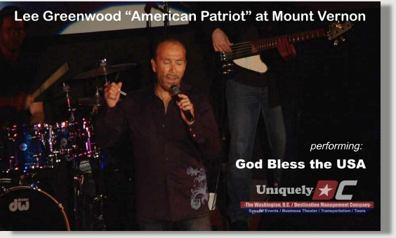 Uniquely DC presents Lee Greenwood - American Patriot for a Special Performance at Mount Vernon.