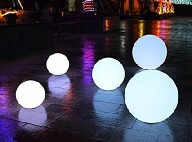 Uniquely DC - LED lighted Orbs / Spheres for party rentals in Washington DC, Maryland and Northern Virginia