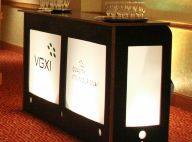 Backlit bars,- Lighted Sponsor Bars, custom logo branded bars for Special Events.  Equipment, Audio Visual Equipment and Decor for events in Washington DC