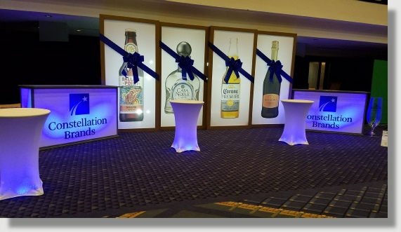 Large format printing, design and installation for corporate events in Washington DC