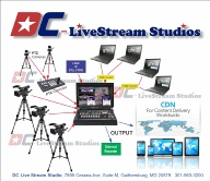Washington DC & Maryland live streaming studio for webcasting conventions and business meetings worldwide.  We set the stage with everything you need to get back to business - delivering your message virtually.