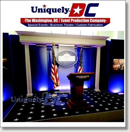 White House Press Briefing Room set rental