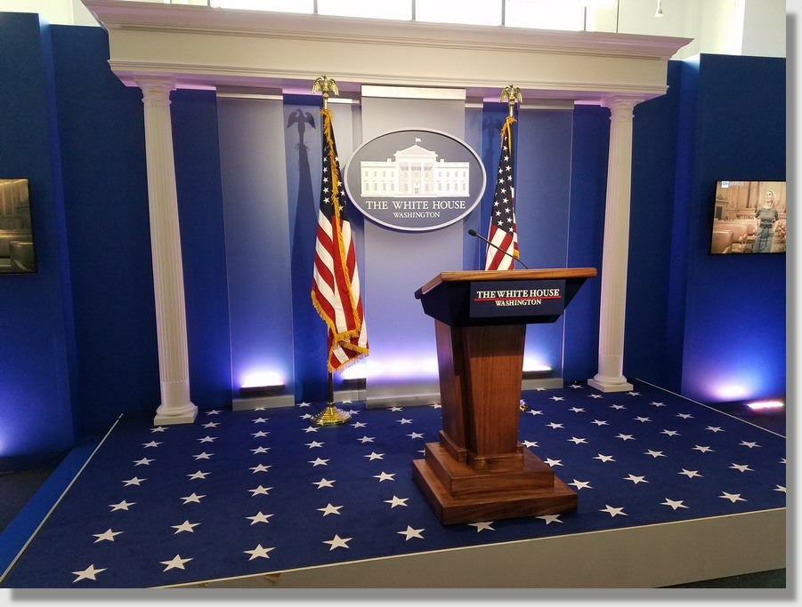 Bring the White House Press Briefing room to your next Washington DC Area special event with Uniquely DC.