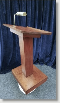 """The Blair House - US State Department """"Toast Lectern"""" - Government Agencies including the Department of State.  Our craftsment hand tool raw lumber into stunning presentation pieces.  Please inquire to Uniquely DC about our custom fabrication services."""
