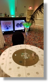 Uniquely DC Casino Events with memorable lighted Casino Centerpieces.