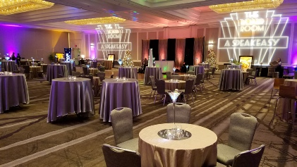 Uniquely DC specializes in ligting for themed events, decor and stages in the Washington DC Metro Area.  Our extensive in house equipment provides stunning lighting for 3D backdrops, sets, props, portraits and more making your DC Event memorable.