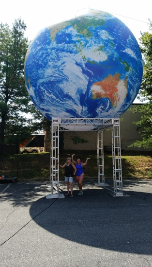 Deluxe Giant Earth Sphere Globe rentals for your next convention, tradeshow or special event.