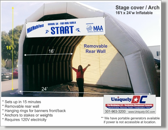 Uniquely DC Stage Roof Cover rentals for Special Events in  Washington DC, Baltimore, Maryland, and Northern Virginia.