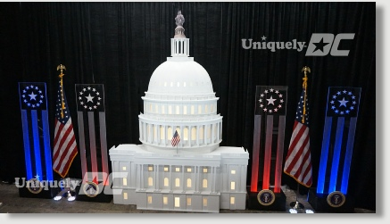 Uniquely DC specializes in Patriotic themed events, decor and entertainment in the Washington DC Metro Area.  Our in house fabrication shop provides stunning 3D backdrops, sets, props, portraits and lighting to make your DC Patriotic Themed Event memorable.