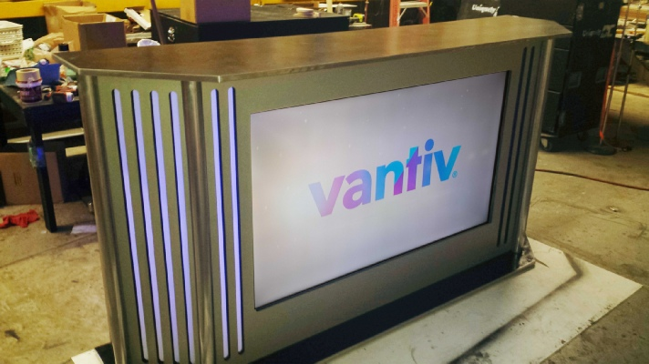 Uniquely DC LED Sponsor Bar - LED TV Super Bar - Exhibit Counter and Event Branded Bar Rentals in Washington DC
